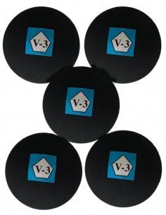 Pelotas negras V-3 pack x...