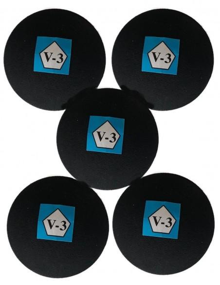 Pelotas negras V-3 caja x 24 u.