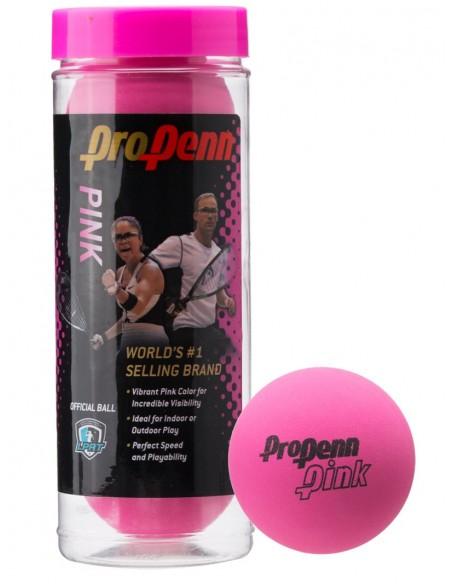 Pelotas Racquetball Pro Penn Pink x 3
