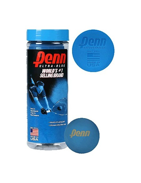 Pelotas Racquetball Penn Ultra Blue x 3